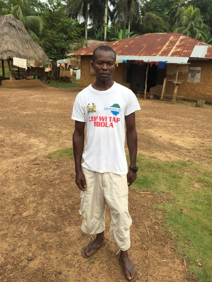 Ibrahim Gbondo, a community health worker