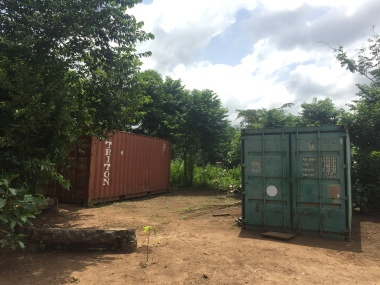 The two containers used as storage